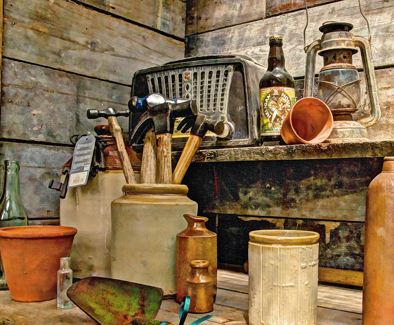 Contents of a shed