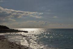 Contre jour sur l'océan.