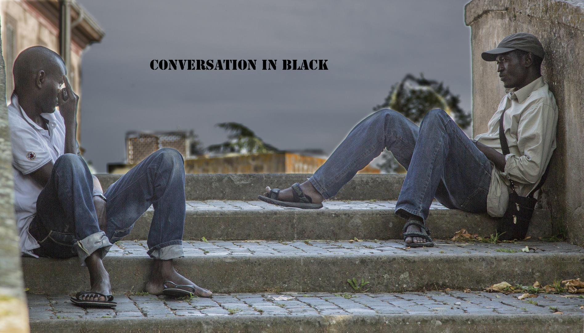 Conversation in black