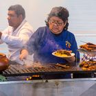 Cooking on the street, Peruvian style.