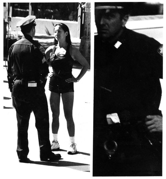 Cop and woman