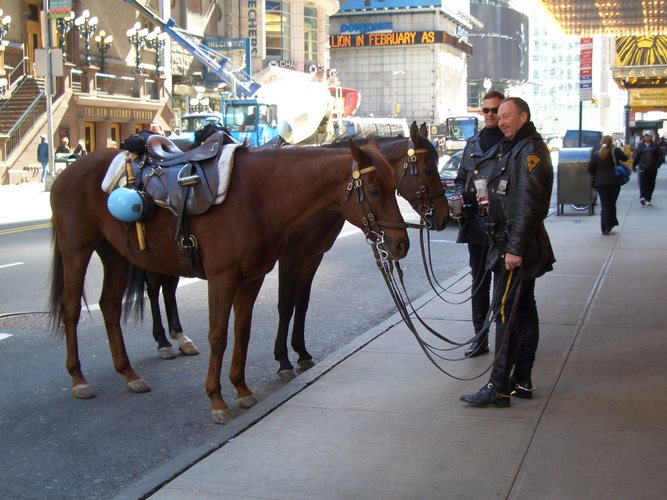 Cops on Times Square