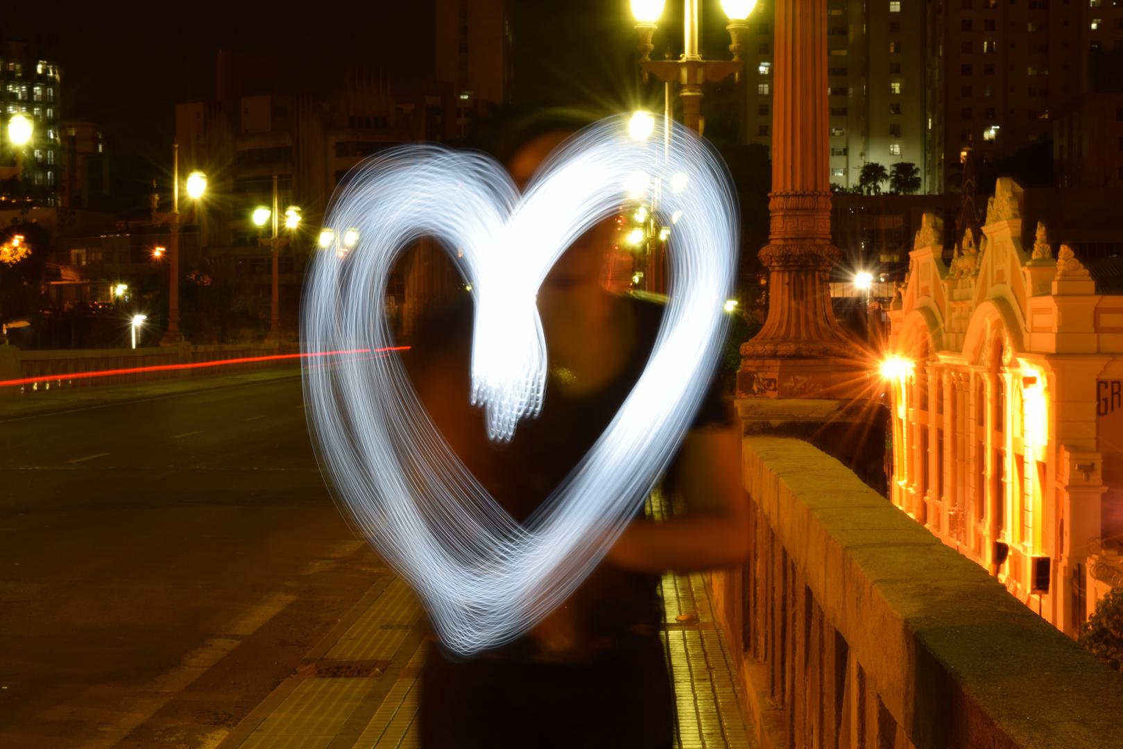 coração com luz