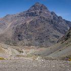 Cordillera de Los Andes ruta en Chile los Caracoles