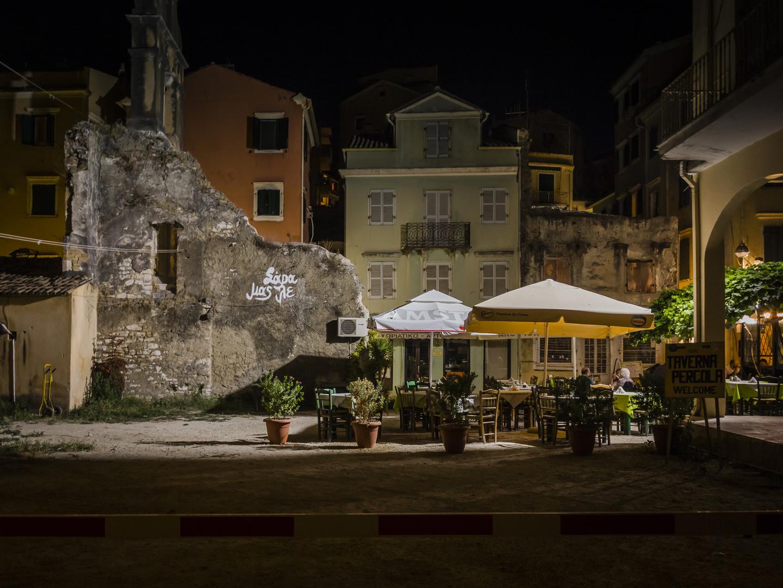 Corfu by night