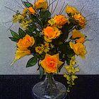 coriandoli di rose gialle
