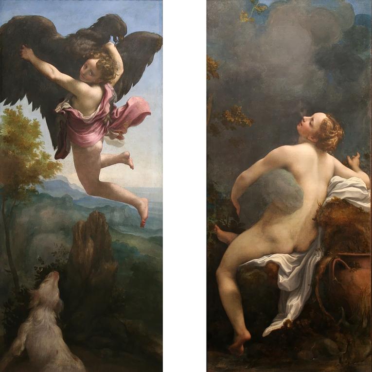 Correggio: Entführung des Ganymed - Jupiter und Io