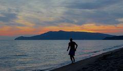 Correre al tramonto...
