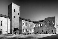 Cortile del castello di Novara
