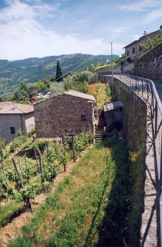 Cortona, im oberen Bereich des Städtchens