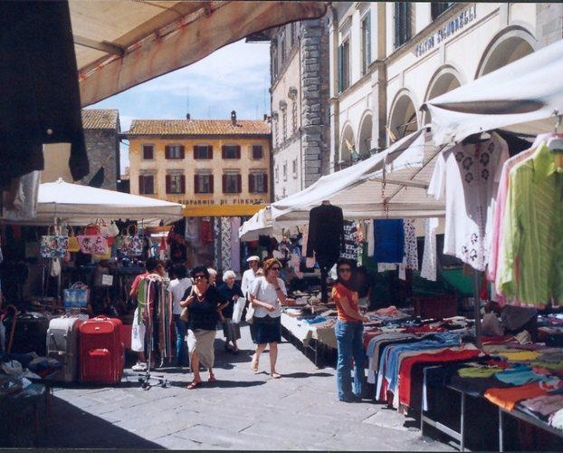 Cortona, Marktszene