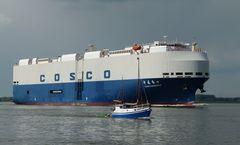 Cosco Shengshi - Autotransporter- Erstanlauf Hamburg