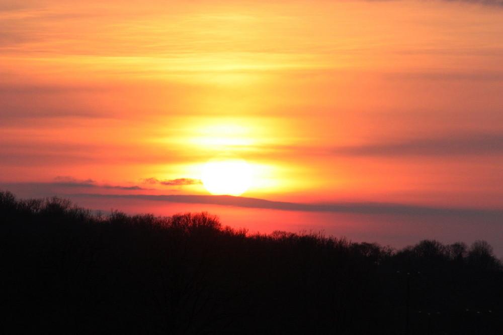 Couché de soleil à Rocamadour