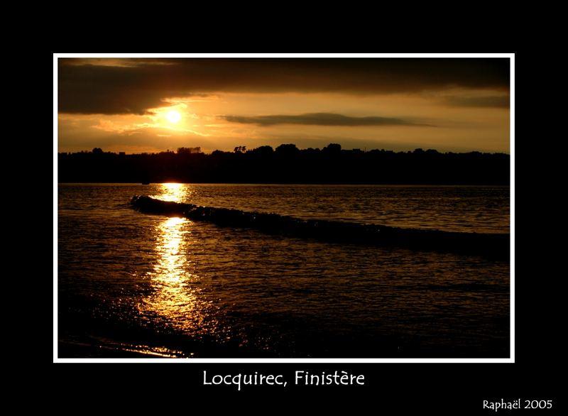 Couché de soleil en Bretagne