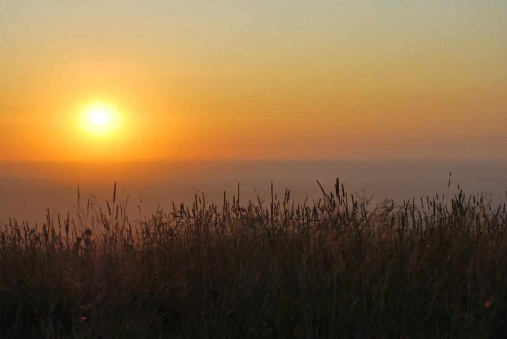 Couché de soleil sur chaîne des Puys.