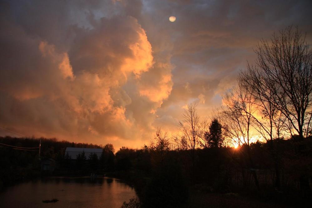 Couché de soleil un soir d'automne...