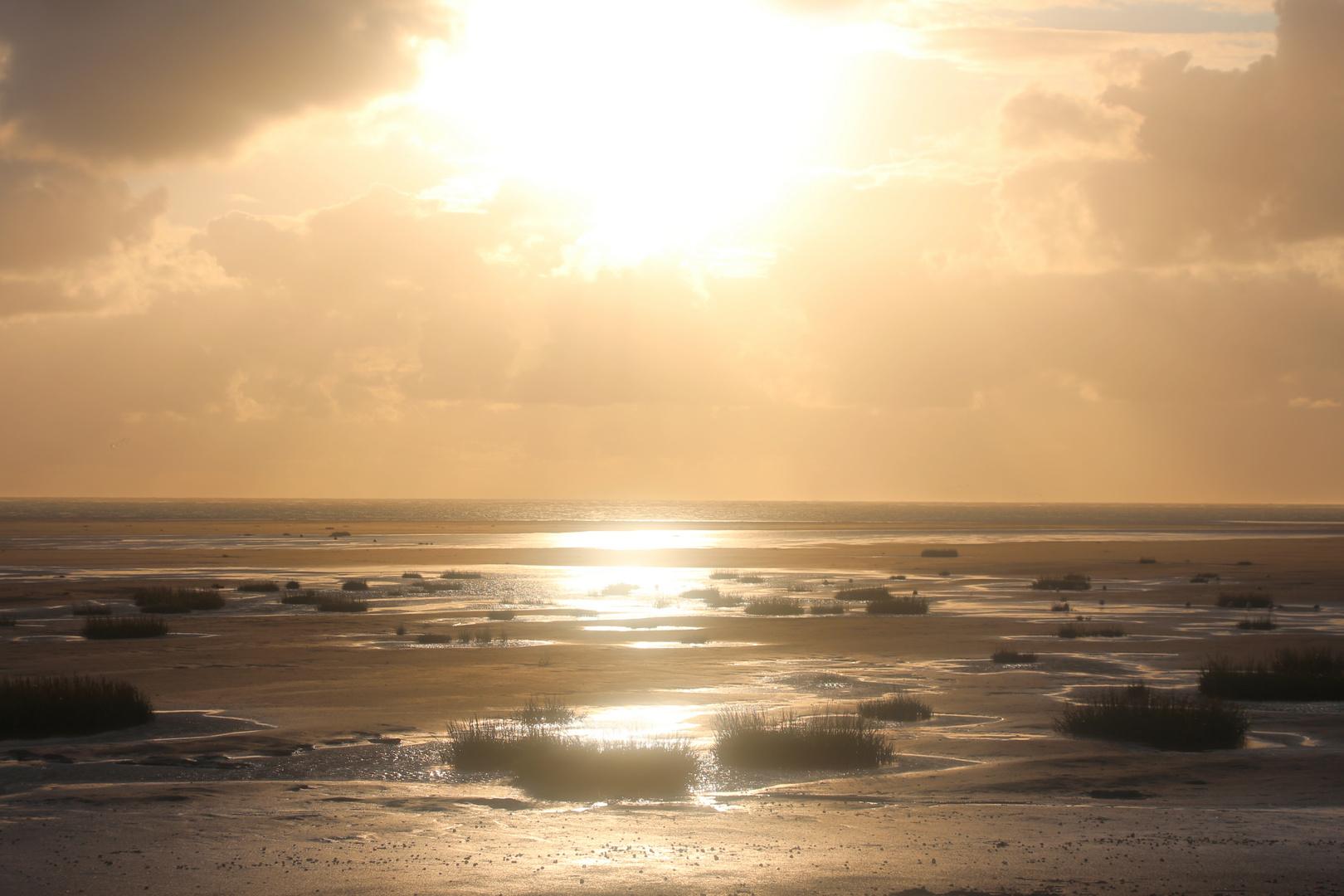 couchée de soleil en baie de SOmme