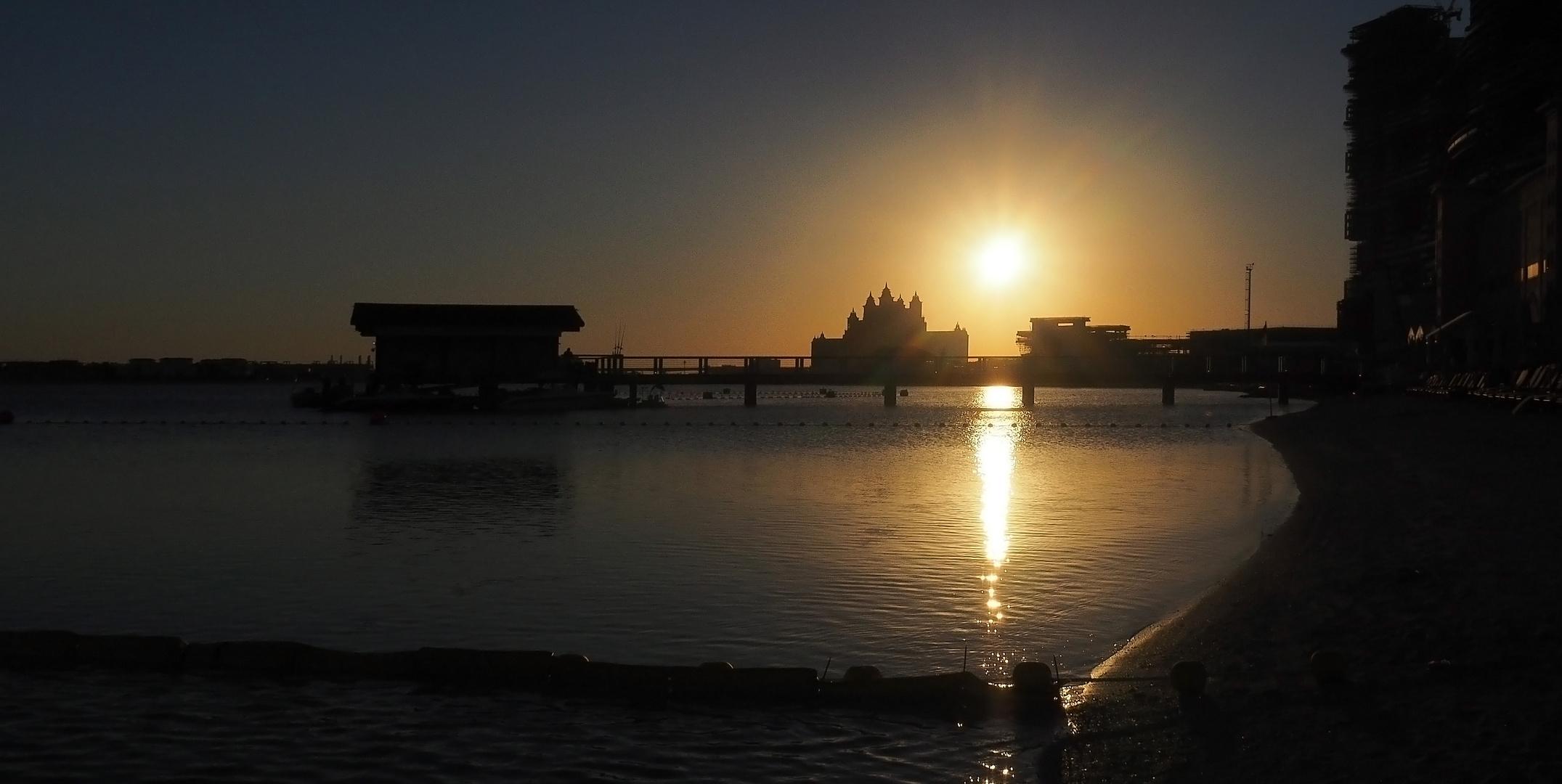 Coucher de soleil à « The Palm Dubaï»