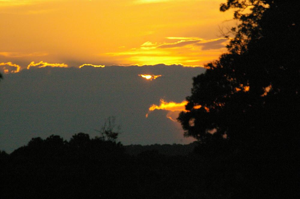 coucher de soleil aquatique