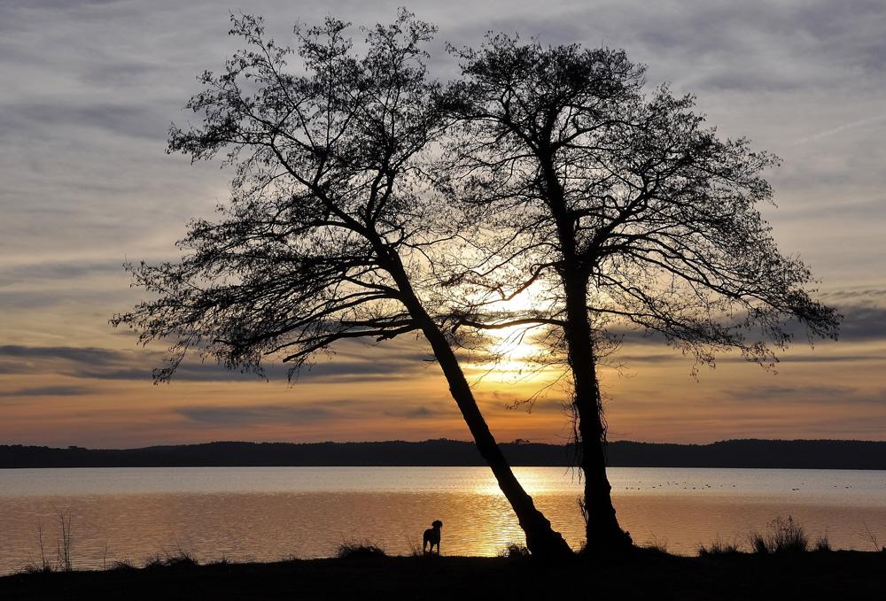 coucher de soleil au lac !!