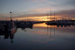 Coucher de soleil aux Saintes Maries de la mer, ce soir ....