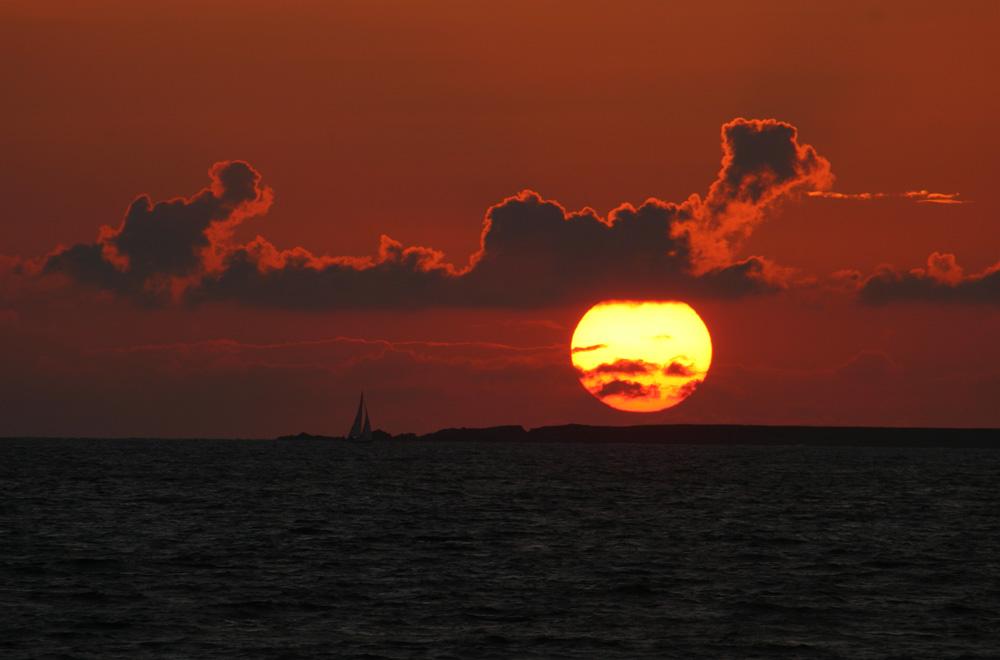 Coucher de soleil dans le Morbihan