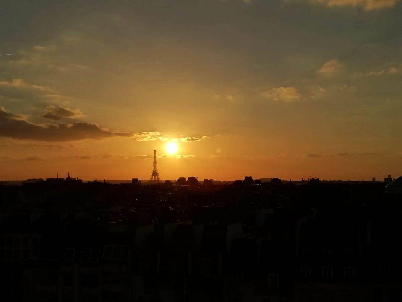 Coucher de soleil depuis Le Centre Pompidou