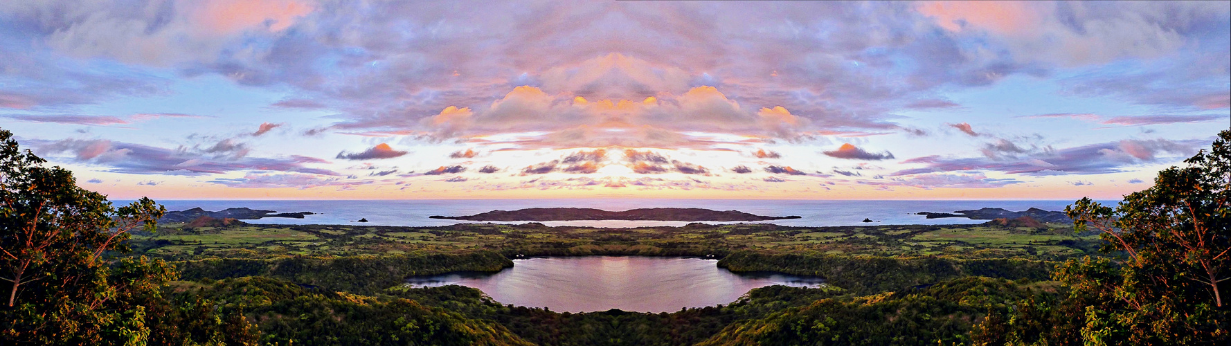 coucher de soleil depuis le mont Passot