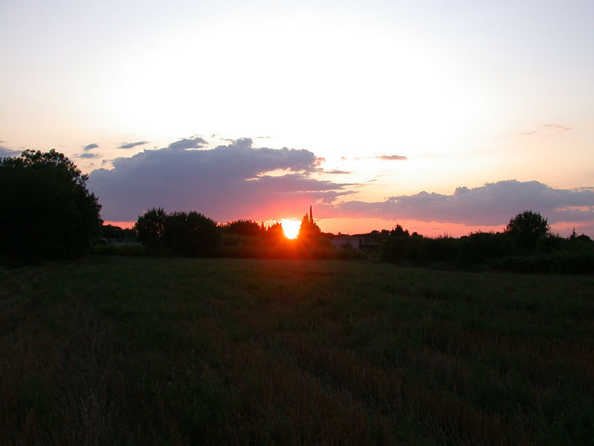 coucher de soleil du gard