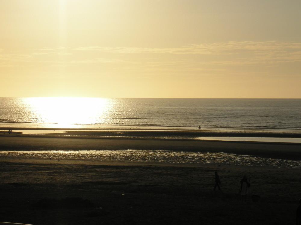 Coucher de soleil en Normandie