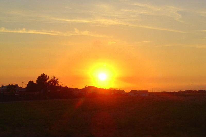 coucher de soleil en Vendée