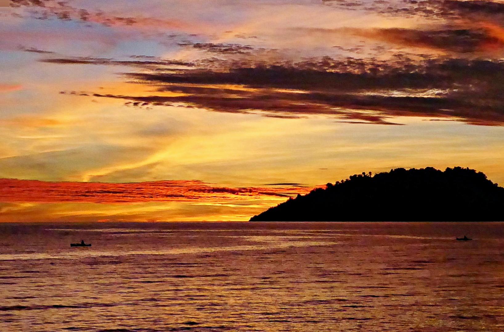 coucher de soleil inoubliable