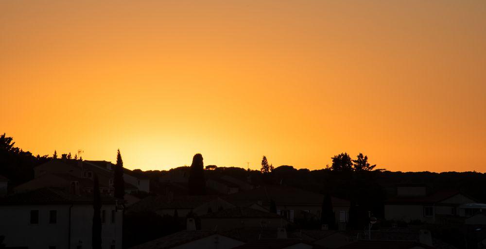 Coucher de soleil sur Fleury d'Aude