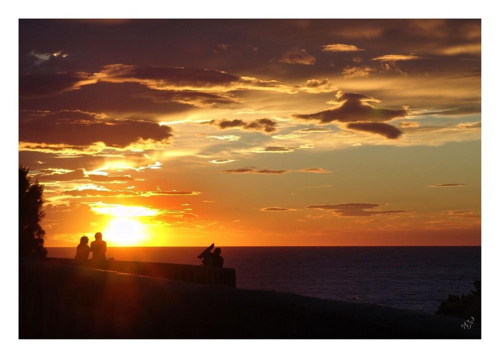 Coucher de soleil sur la c te basque photo et image paysages mers et oc ans pays et cote - Coucher bebe sur le cote ...