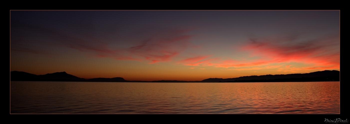 Coucher de soleil sur le Lac Léman - Switzerland
