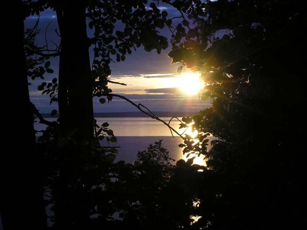 Coucher de soleil sur le lac Vattern en Suède