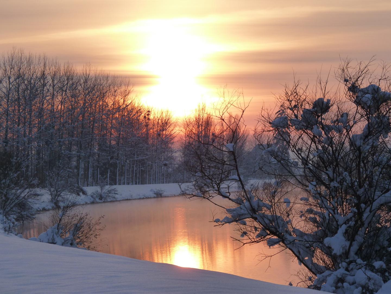 coucher de soleil sur le rhone