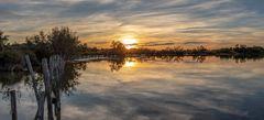 Coucher de soleil sur l'étang de Ginès 2