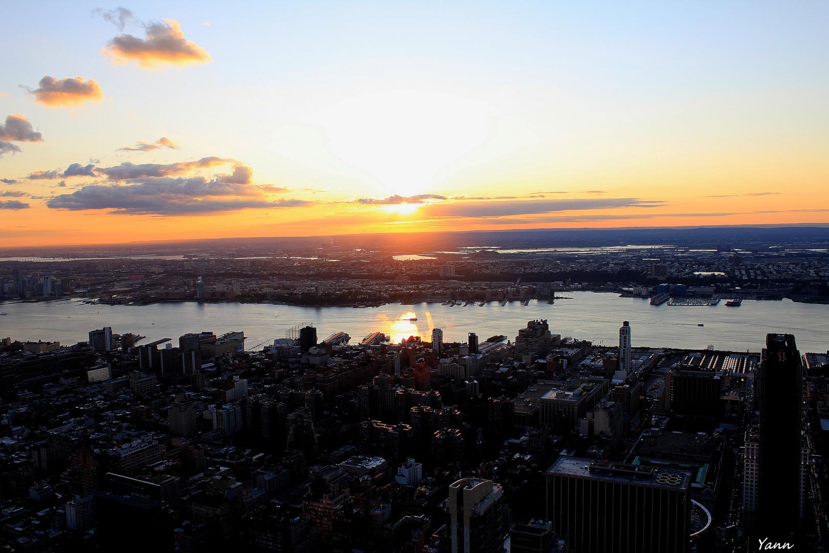coucher de soleil sur Manhattan...