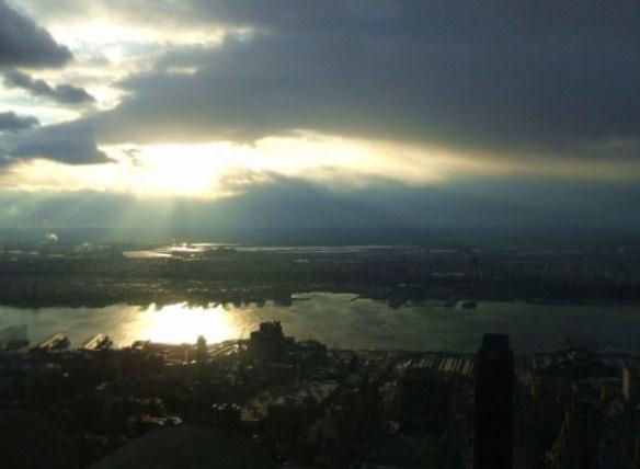 Coucher de soleil sur N.Y