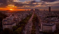 Coucher de soleil sur Paris