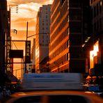 Coucher de soleil sur Times Square...