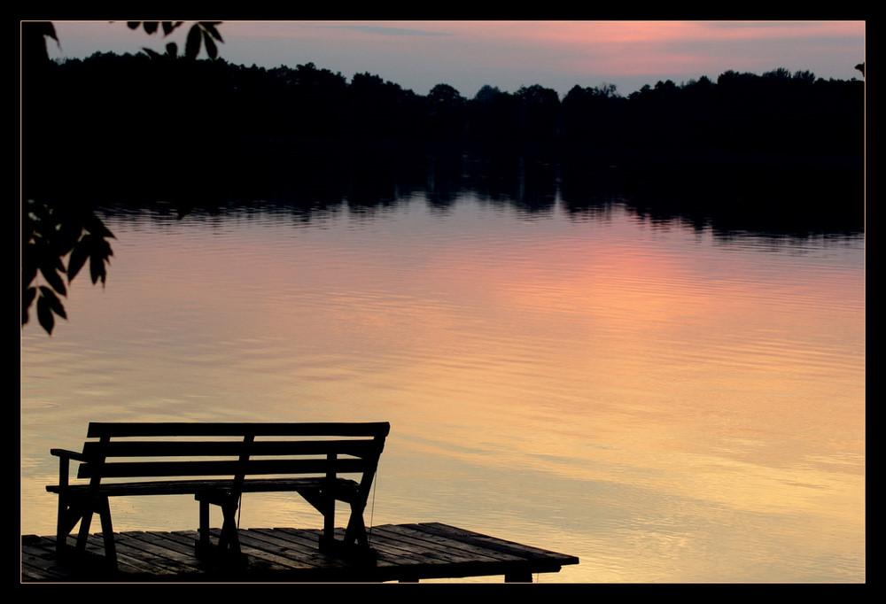 Coucher de Soleil sur un lac de Mazurie (Pologne)