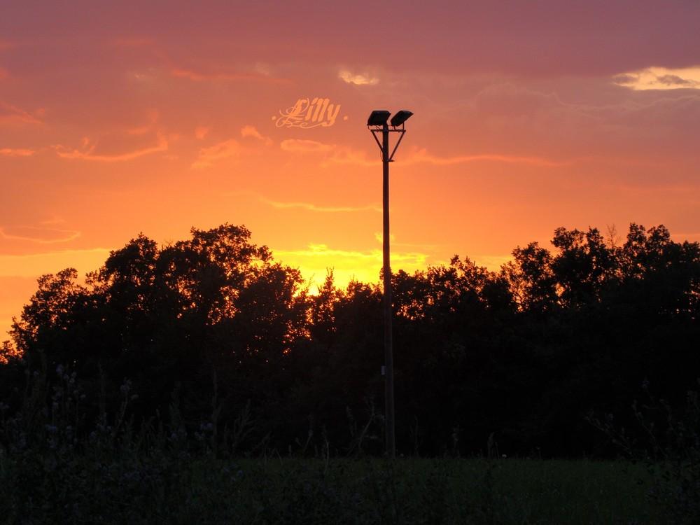 Coucher de soleil, Vallée de la Bléone