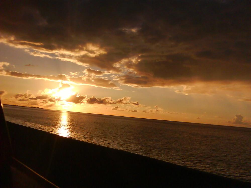 Couchez de Soleil a l'île de la Reunion