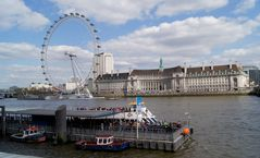 County Hall und Millenium Wheel
