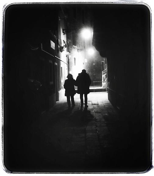 Couple Walking at Night #3