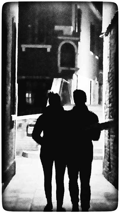 Couple with Pizza Box
