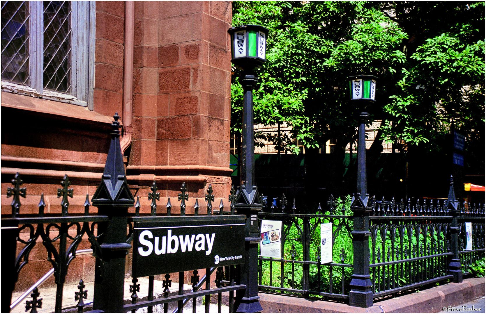 Court St Subway Entrance, St Ann's Church, Brooklyn
