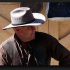 Cowboy in a gray hat